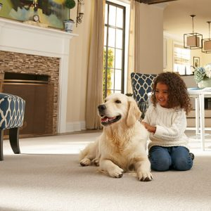 Baby with dog   Everlast Floors