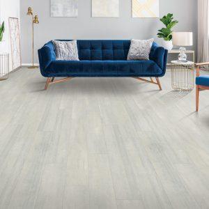 Blue couch on floor | Everlast Floors