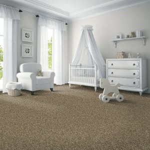 Grey carpet in baby room with pram | Everlast Floors
