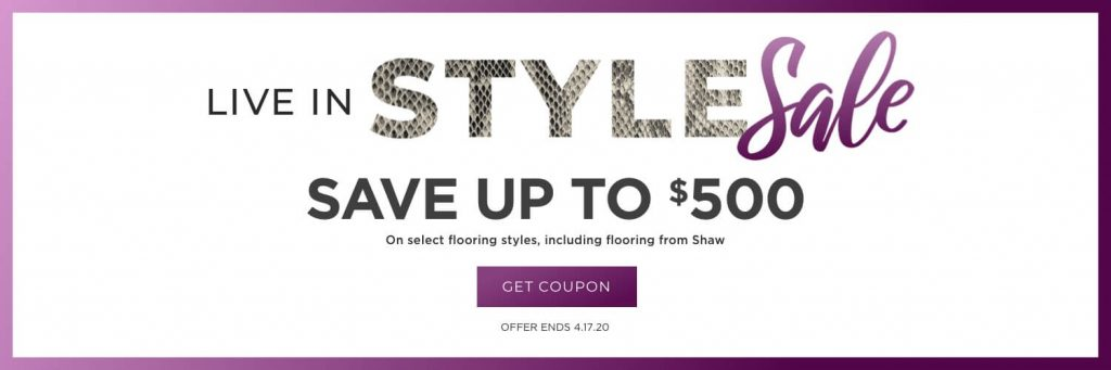 Live in style sale banner   Everlast Floors